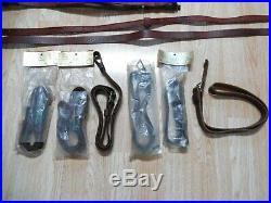 15 Vtg Rifle Slings Hunter Leather H&R NOS Tooled Latigo Style Buckle Slide Plus