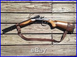 1 1/4 Wide Leather NO DRILL Rifle Sling For Henry Rifles. Brown Leather
