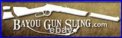 1 1/4 Wide NO DRILL Henry Rifle Sling Brown American Buffalo Bison Leather
