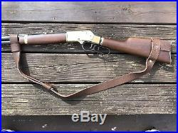 1 1/4 Wide NO DRILL Rifle Sling For Henry Rifles. Brown Leather