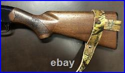 1 NO DRILL Rifle Sling CAMO Leather Special Price Measurements Needed See Pic