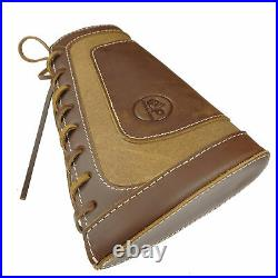 1 Sets Leather Canvas Shotgun Shell Holder Buttstock with Gun Sling for 12GA