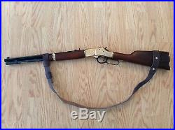 1 Wide NO DRILL Rifle Sling For Henry Rifles. Water Buffalo Leather