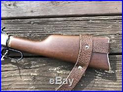 2 Wide NO DRILL Rifle Sling For Henry Rifles. Water Buffalo Leather
