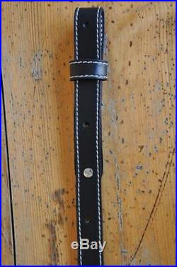 3 Custom Quality Leather Rifle Gun Sling Amish Made Adjustable NEW
