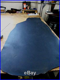 5/6 oz Black Veg Tan Water Buffalo Belt Pouch Holster Leather Bend 12-13.5 sq ft