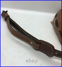 AA&E Padded Top Grain Brown Leather Rifle Shotgun Gun Sling Strap Vintage #6011