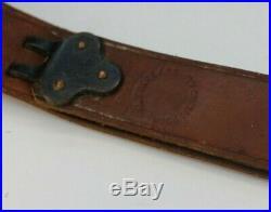 AL Freeland Leather Armcuff Shooting Sling Vintage Match Rifle USA Rock Island