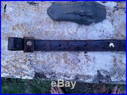 American Wild Alligator Rifle shotgun Shoulder Sling Strap gator leather DE20