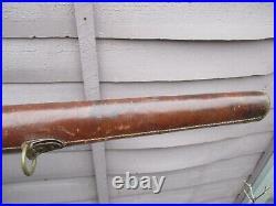 An Antique Leather & Material Gun Case c1910/20s