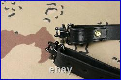 Andy's Leather Rhodesian Rifle Sling with quick detachable swivels Made in USA