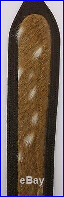 Axis Deer Hide and Cow Leather Rifle Sling Made in Texas