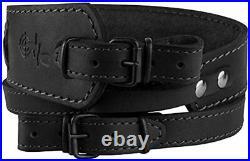 BRONZEDOG Genuine Leather Rifle Sling Braided Shotgun Strap Durable Hunting Shou