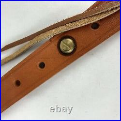 Bianchi Adjustable Cobra 64 Brown Leather Basketweave Rifle Sling Strap
