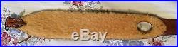 Bianchi Cobra Grande #73 sheep fleece lined leather rifle sling basket weave