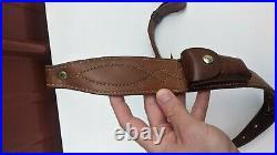 Bianchi Cobra Pat. Pending Leather Rifle Shotgun Sling with Pouch Pocket Vtg