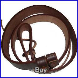 British WWI & WWII Lee Enfield SMLE Leather Rifle Sling 5 Units Dk89226
