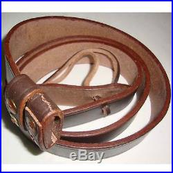 British WWI & WWII Lee Enfield SMLE Leather Rifle Sling 5 Units NE32555