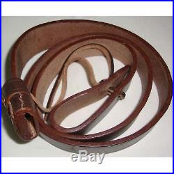 British WWI & WWII Lee Enfield SMLE Leather Rifle Sling 5 Units Sr86221