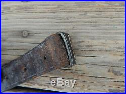 CIVIL WAR MUSKET OR RIFLE SLING LEATHER VERY GOOD CONDITION 65 ¼ inches