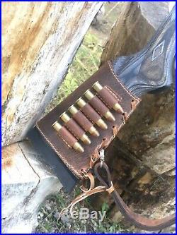 Custom Buffalo Leather Sling And Stock Wrap Combo For Marlin 1895 45-70