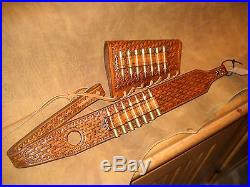 Custom leather sling and stock wrap for a Marlin model 336 30-30 hand tooled
