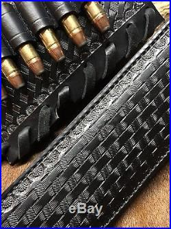 Custom leather sling stock wrap for a Marlin model 1895 45-70