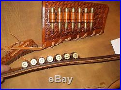 Custom leather stock wrap And Sling Combo For a Marlin model 1895 45-70