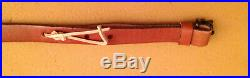 Fabulous Custom Embossed Big Game Scenes Leather Cobra Style Rifle Sling, NICE