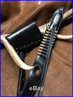 Genuine Custom Leather Sling And Stock Wrap For Henry All Weather 45-70
