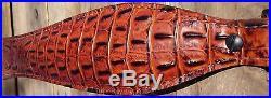 Genuine Leather Cognac Premium Select Gator Rifle Sling