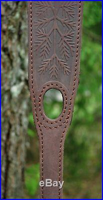 Genuine Leather Rifle or Shotgun sling decorated with ELK