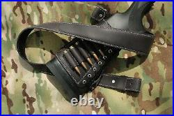 Genuine Leather SET padded sleeve and sling for any shotgun and rifle
