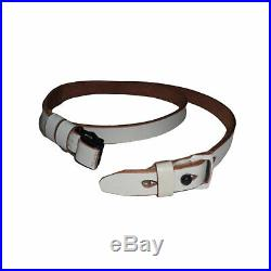 German Mauser K98 WWII Rifle White Leather Sling x 10 UNITS bE705