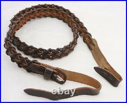 German Vintage Hunting Braided Leather Sling AKAH