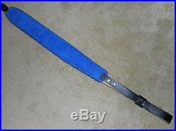 Hand Tooled Leather Padded Rifle Sling Adjustable Length Morning Glory-Humm-Bird
