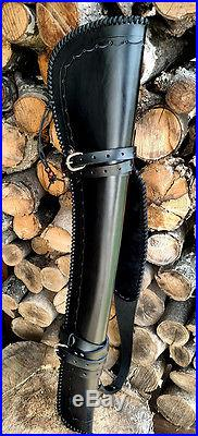 Handmade Leather Rifle Western Saddle Scabbard with Sling Winchester Henry Marlin