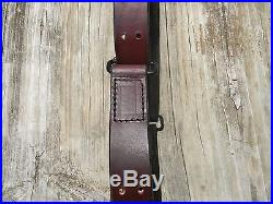 Handmade M1907 Leather Military Rifle Sling, 1.25 Inches Wide-MAHOGANY