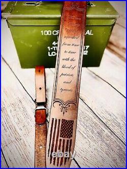 Handmade Rifle Sling American Flag Eagle Patriot Gun Rifle Shotgun Strap Custom