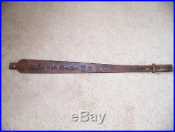 Handmade Ruger Mini 30 Leather Western Rifle Sling Tooled in American
