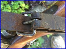 Japanese Arisaka Rifle Sling Orginal Leather WW2 Very Rare Type 99