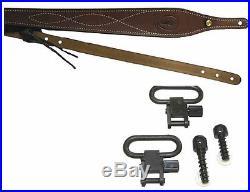 Leather Air/Rifle Sling Cobra Standard, Swivels & Studs