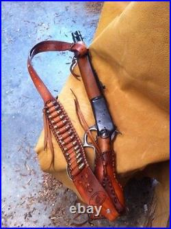 Leather Gunstock Cover Sling No Drill Henry Mares Leg Rossi Ranch Hand