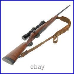 Leather Rifle Gun Sling Shoulder Straps Cartridge Shell Holder 30-30.308.407