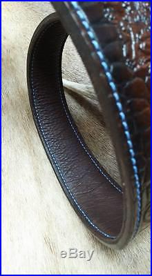 Leather Rifle Sling, Brown Leather, Handcrafted in the USA, Lion Guard, Economy