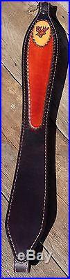 Leather Rifle Sling Buck Head Design