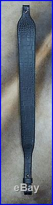 Leather Rifle Sling, Handcrafted in USA, Camouflage and Black Leather, Padded