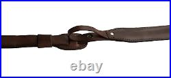 Leather Rifle Sling, Padded with Thumb Strap