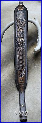 Leather Rifle Sling, Wild Hog Made by Seelye Leather Works, Hand Made in USA