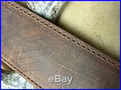 Leather padded rifle sling with Matching stock wrap Henry 45-70 Buffalo